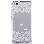Two Butterflies Pattern PU Material Phone Case for Huawei P9 Lite/P9