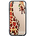 iphone 6s plus / 6 / iphone 6s / 6 Cartoon-Elefanten&giraffestpu weiche rückseitige Abdeckung