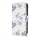 PU Leather Embossed Flower Butterfly Wallet Case with 9 Card Slots for iPhone SE 5s 5