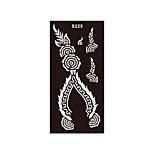 1pc Women Body Art Henna Airbrush Stencil Flower Tattoo Drawing Unscented Temporary Tattoo Sticker High Quality S225