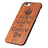 Back Cover Ultra-thin / Other Word/Phrase Wooden HardApple iPhone 6s Plus/6 Plus / iPhone 6s/6