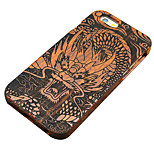Pear Wooden Chinese Growling Dragon Carving Protective Back Cover Hard iPhone Case for iPhone SE/iPhone 5S/iPhone 5