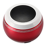 Drum Portable Mini Metal Steel Wireless Smart Hands Free Bluetooth Speakers Support TF Card Red