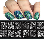 1pcs 12*6CM Nail Art Stamping Plate Beautiful Flower Bow Colorful Image Design Nail Tools Les Cool11-20