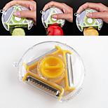 1PCS 3in1 Multi-function Rotary Vegetable Fruit Potato Peeler Slicer Shredder Cutter(Random Color)