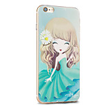 Kakashi Flower Princess Series TPU Painting Soft Case for iPhone 6s / 6 /6s Plus / 6 Plus(Chrysanthemum)