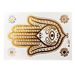 Lovely Waterproof Metal Elephant Gold Face Sticker W207