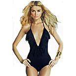 Women's Swimwear Quick Dry / Compression Bikinis Adjustable Black S / M / L