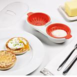 Microwave Egg Special Steaming Plate Love Breakfast Omelette Egg Box Kitchen Utensils