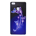 Back Pattern Butterfly TPU Soft Case Cover For Huawei Huawei P9 / Huawei P9 Lite