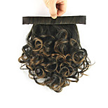 Length Black-Brown Wig 28CM Synthetic Curly High Temperature Wire Reel Contracting Fluffy Ponytail Color 4011