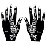 2pcs Henna Airbrush Stencil Tattoo Temporary Tattoo Body Hands Art Painting Sticker S104