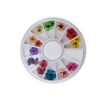Lovely / Wedding Finger Nail Jewelry / Decoration Kits / Other Decorations Plastic /  12 models /boxJewelry diameter of