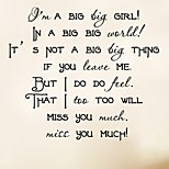 1Pc Fashion I'M A Big Big Girl Wall Sticker Home Decor Creative Song Art Quote Living Room Wall Decal Decorative Vinyl