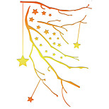 M-6 Golden Christmas Exploding Star Tree Decals  Fashion Branches 3D Stickers for Home Decor