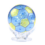 ABS 3D DIY Football Crystal Puzzle Animal Educational Toys For Kids Or Adults Blue/Yellow