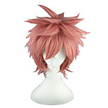 Cosplay Wigs Fairy Tail Nazrin Pink Short / Straight Anime Cosplay Wigs 35 CM Heat Resistant Fiber Male / Female