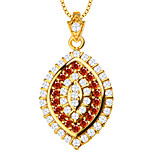 Luxury Zirconia Pendant Necklace High Quality 18K Gold Plated Austrian Crystal Fashion Jewelry Women Brand Gift P30108