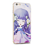 Kakashi Flower Princess Series TPU Painting Soft Case for iPhone 6s / 6 /6s Plus / 6 Plus(Night willow herb)