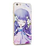 Kakashi fiore serie della principessa pittura TPU custodia morbida per iPhone 6S / 6 / 6S plus / 6 Plus (notte salice erba)