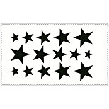 Fashion Temporary Tattoos Pentagram Sexy Body Art Waterproof Tattoo Stickers 5PCS (Size: 2.36'' by 4.13'')