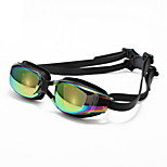 Unisex Swimming Goggles Black Adjustable Size / Anti-slip Strap PC PU