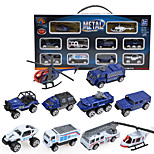 Dibang -0791 ten glide ratio of 1:87 alloy car model alloy mini police car combination package (2 setsPCS)