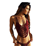 Women Knitted Swimsuit Bikini Beach Fringed Suit