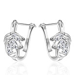 Women's S925 Silver Plated Hollow Out Diamonds Hoop Earrings(Color Preserving More Than A Year)