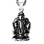 Archaize 18k Gold Plated Elephant God Necklace Pendant Man Trendy Jewelry Gift P30146