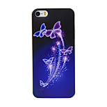 caso di TPU materiale modello farfalla viola sottile telefono cellulare per iPhone SE / 5s / 5