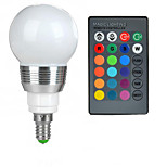 E14 85V-265V 100-200Lm 3W RGB Remote Control LED Colorful Bulbs