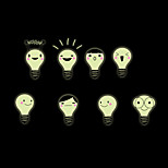 Luminous Wall Stickers Wall Decals Style Cute Little Light Bulb PVC Wall Stickers