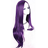 Europe And The United States With Long Straight Hair Wigs 28 Inch Purple