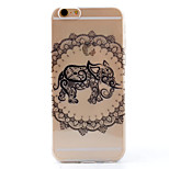 TPU Transparent Thin Elephant Case for iPhone  6 / 6S / 6 Plus / 6S Plus