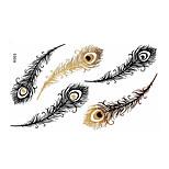 Tatuajes AdhesivosPlantillas para Tatuajes Temporales- paraMujer / Adulto-Dorado-Papel-1-15*12*0.3