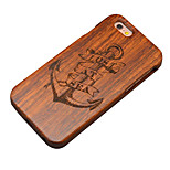 Pear Wooden Lost at Sea Anchor Carved Protective Back Cover Hard iPhone Case for iPhone 6S Plus/6 Plus/iPhone 6s/6
