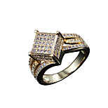 Micro setting New arrival women 18k gold plated wedding flower design band ring