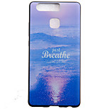 TPU Material Sea Black Slim Painted Soft cellphone Case for Huawei Ascend P9/P9 Lite