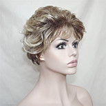 Europe And The United States Sell Polyester Dyed Golden Old 5 Inch Short Curly Wig