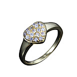 heart design Wholesale lady real big shining zircon inlay casual band ring