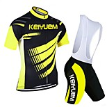 KEIYUEM®Others Unisex Short Sleeve Spring / Summer / Autumn Cycling Clothing bib suits/ Breathable Quick Dry#7