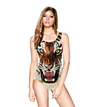 FuLang swim One-Piece Suits   Paige  Thin   sexy backless   fashion  Tiger Print  SC090