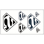 Fashion Temporary Tattoos Superman Sexy Body Art Waterproof Tattoo Stickers 5PCS (Size: 2.36'' by 4.13'')