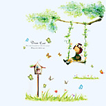 Butterfly Garden Girl Swing Wall Stickers DIY Removable Living Room Bedroom Wall Decals