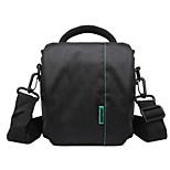 INDEPMAN One-Shoulder Contracted Waterproof Camera/Camcorder Bag DSLR Camera Bag 16.5*10*17 Green/Red Inside