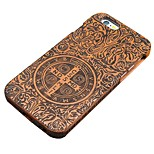 Pear Wooden John Constantine Exorcism Cross Carving Protective Back Cover Hard iPhone Case for iPhone 5S/iPhone SE/5