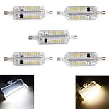 5W R7S Bombillas LED de Mazorca T 76 SMD 4014 800 lm Blanco Cálido / Blanco Fresco Decorativa / Impermeable AC 100-240 V 5 piezas