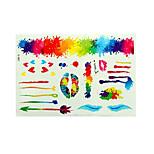 Tattoo Stickers Airbrush Tattoo Stencils Women / Adult Multicolored Paper 1 23*14*0.3