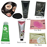 PILATEN 6 In 1 Face Nose Lip Eye Mask +2 Kinds Hand Cream ,All Are 1 Pcs